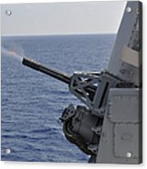 A Close-in Weapons System Aboard Acrylic Print
