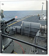 A Close-in Weapons System Fires Aboard Acrylic Print