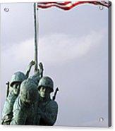 A Close Up Of The Iwo Jima Bronze Acrylic Print by Michael Wood