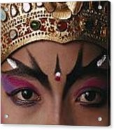 A Close View Of A Face Of A Balinese Acrylic Print