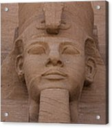 A Close View Of The Face Of Ramses IIs Acrylic Print