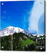 A Cloud Near Mt Rainer  Acrylic Print