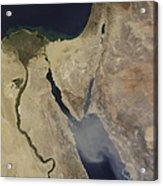 A Cloud Of Tan Dust From Saudi Arabia Acrylic Print