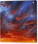 A Cloudy Sunset Acrylic Print