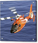 A Coast Guard Hh-65a Dolphin Rescue Acrylic Print by Stocktrek Images