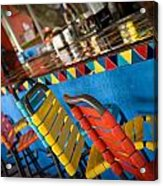 A Colorful Bar Acrylic Print