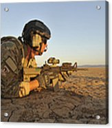 A Combat Rescue Officer Provides Acrylic Print by Stocktrek Images