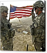 A Commander Re-enlists Master Sergeant Acrylic Print