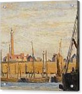 A Continental Harbor Acrylic Print by William Lionel Wyllie