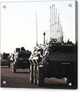 A Convoy Of German Army Tpz Fuchs Acrylic Print