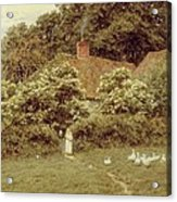 A Cottage At Farringford Isle Of Wight Acrylic Print by Helen Allingham