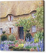 A Cottage Garden In Full Bloom Acrylic Print