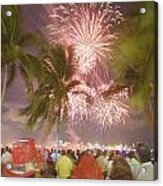 A Crowd Gathered On New Years Eve Acrylic Print