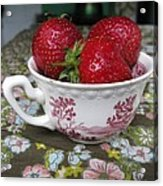 A Cup Of Strawberries Acrylic Print