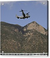 A Cv-22 Osprey Flies Over The 2007 Acrylic Print