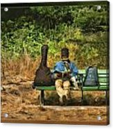 A Day On A Bench Acrylic Print