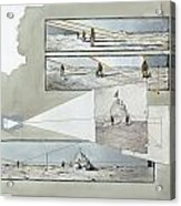 A Diagram Examines Photographs Acrylic Print by Richard Schlecht