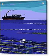 A Distant Ship Acrylic Print