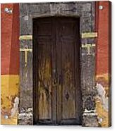 A Door In A Painted Building Acrylic Print
