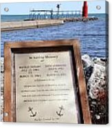 A Fisherman's Prayer At Algoma Lighthouse Acrylic Print by Mark J Seefeldt