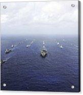 A Fleet Of U.s. Navy And Japan Maritime Acrylic Print