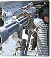 A Flight Engineer Prepares Acrylic Print