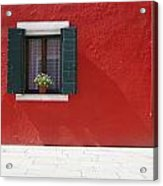 A Flower Pot Sits In A Window With Acrylic Print