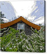 A Flowery House In Norway Acrylic Print