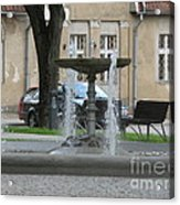 A Fountain In Silute Lithuania Acrylic Print