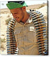 A Free Libyan Army Soldier With An Acrylic Print