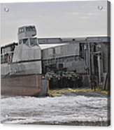 A French Landing Craft Comes Ashore Acrylic Print