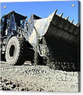 A Front End Loader Raising A Road Bed Acrylic Print