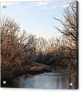A Frosty Morning On The Elkorn Creek Acrylic Print