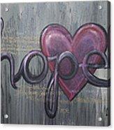A Future Of Hope Acrylic Print