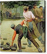 A Game Of Bourles In Flanders Acrylic Print
