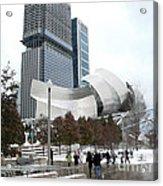 A Gehry Winter Acrylic Print