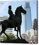 A General And His Horse In Philly Acrylic Print