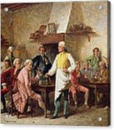 A Gentleman's Debate Acrylic Print by Benjamin Eugene Fichel