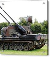 A Gepard Anti-aircraft Tank Acrylic Print by Luc De Jaeger