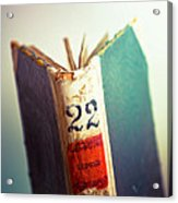 A Good Book Is Hard To Find Acrylic Print
