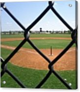 A Great Day For Tball #sports #diamond Acrylic Print by Kel Hill