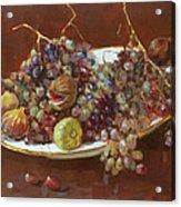 A Greek Summer Plate Acrylic Print