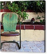 A Green Chair Acrylic Print