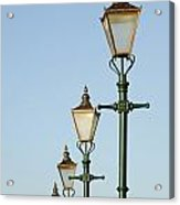 A Group Of Old Gas Street Lamps Acrylic Print by Bill Hatcher