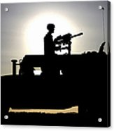 A Gunner Mans An Mk-19 40mm Machine Gun Acrylic Print