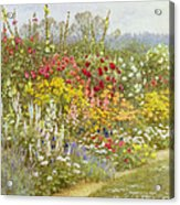 A Herbaceous Border Acrylic Print