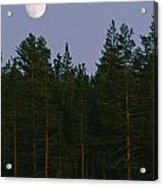 A Huge Moon, With Features Clearly Acrylic Print