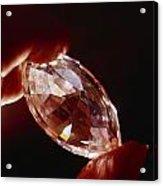 A Huge Nine-carat Diamond Glistens Acrylic Print