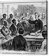 A Jury Of Whites And Blacks Acrylic Print
