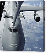 A Kc-10 Extender Prepares To Refuel Acrylic Print by Stocktrek Images